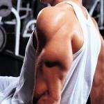 Трицепс: Разгибание рук в локтях лёжа