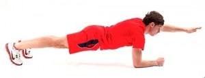 Упражнение Планка с поднятой рукой