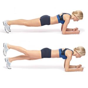 Усложнённое упражнение планка